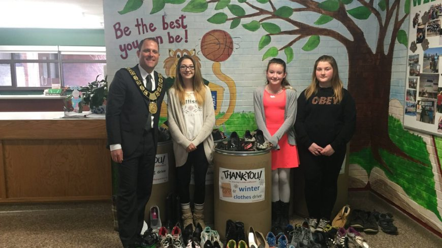 Sharing Shoes at Westdale Public School DSBN