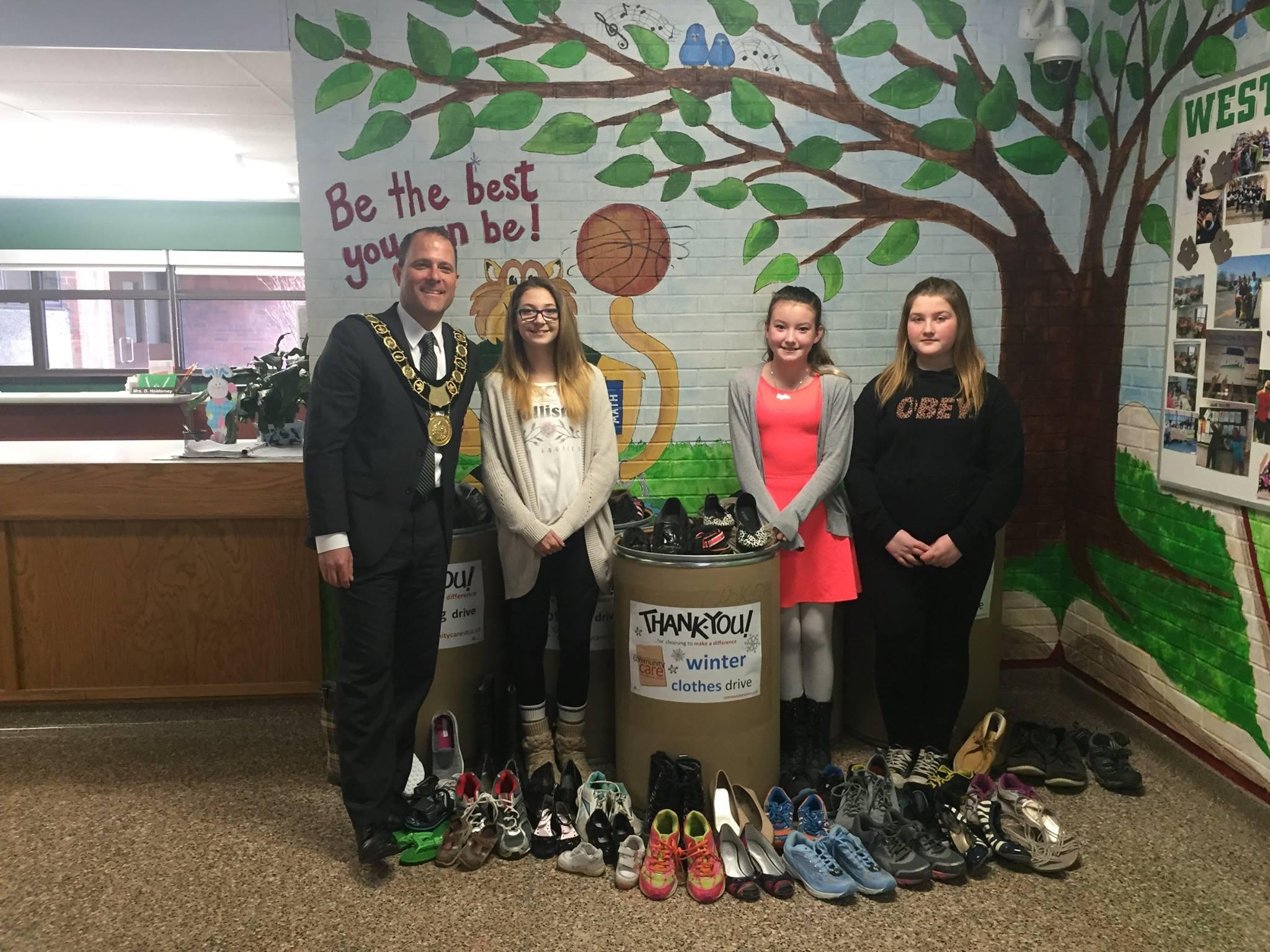 Sharing Shoes at Westdale Public School DSBN