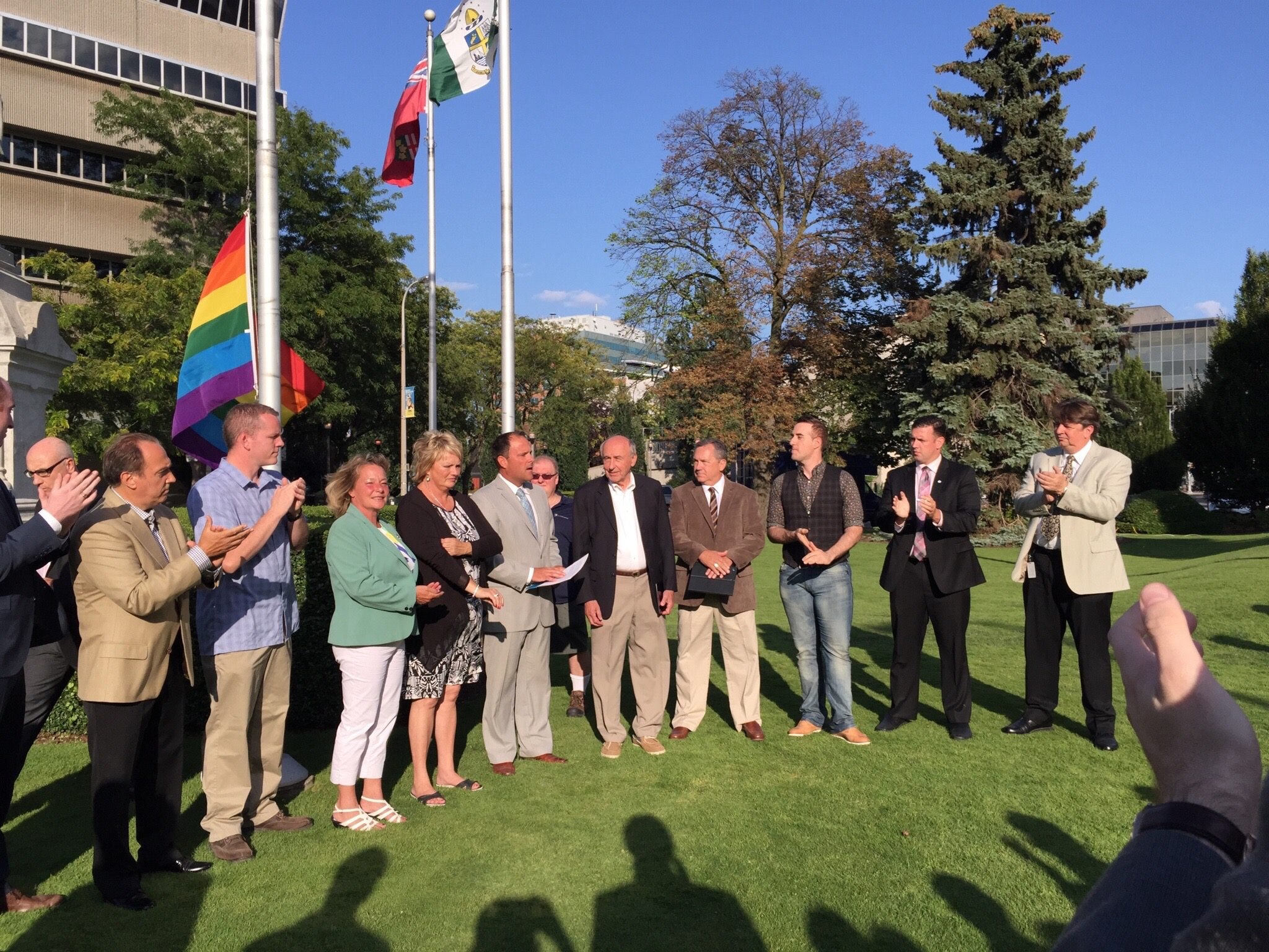 Pride flag showing our City and Council's support of the LGBTQ community.