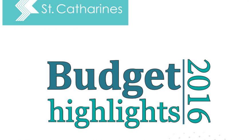 2016 Budget Highlights