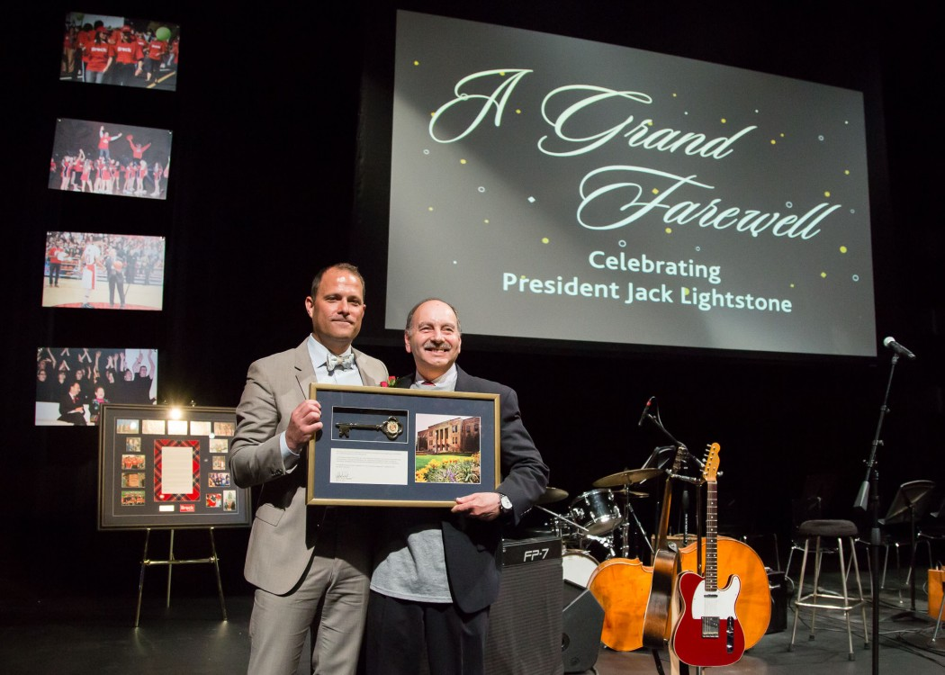 Presenting the Key to the City of St. Catharines to Dr. Jack Lightstone