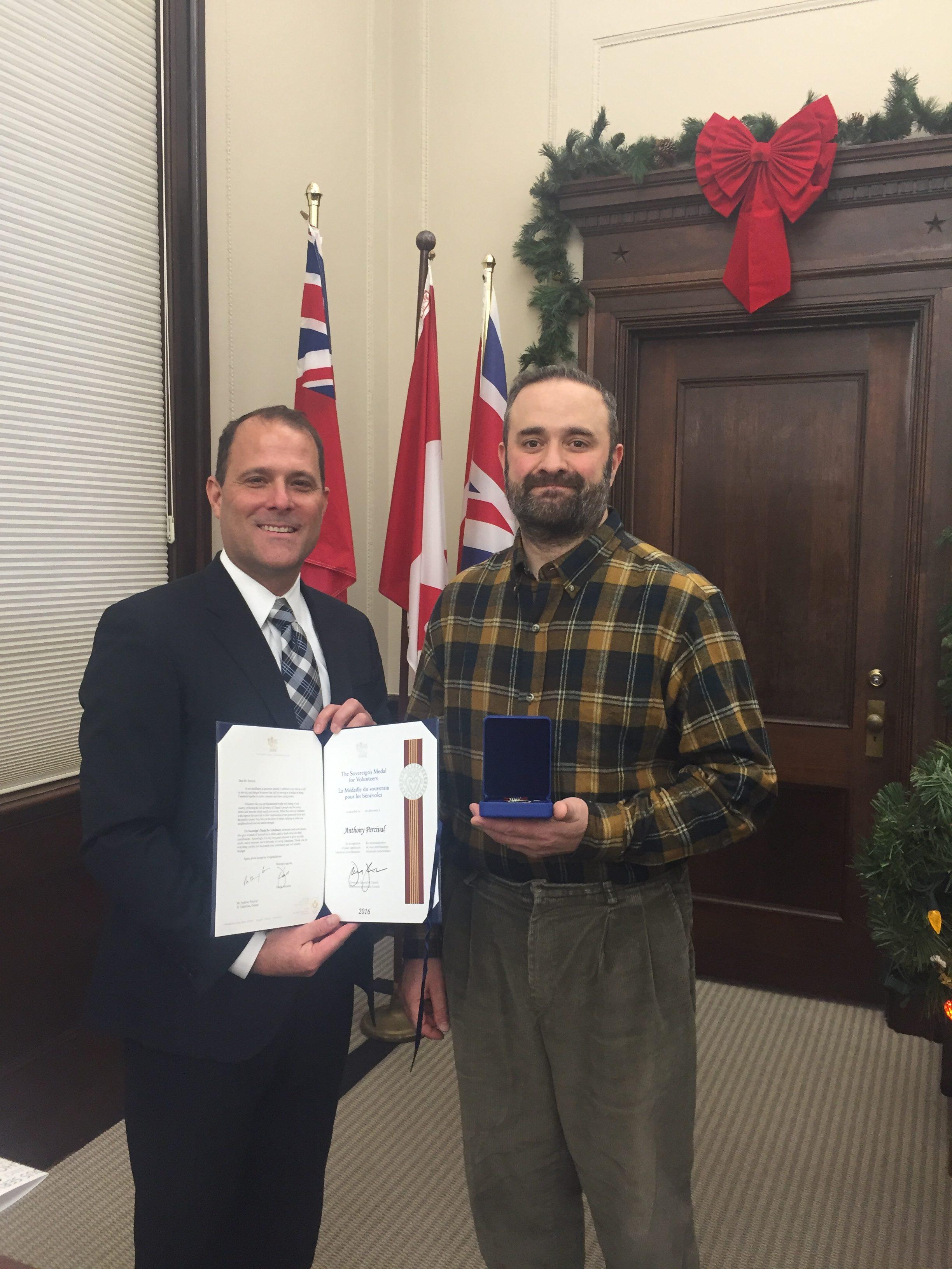 Governor General Sovereign's Medal for Volunteers Presentation