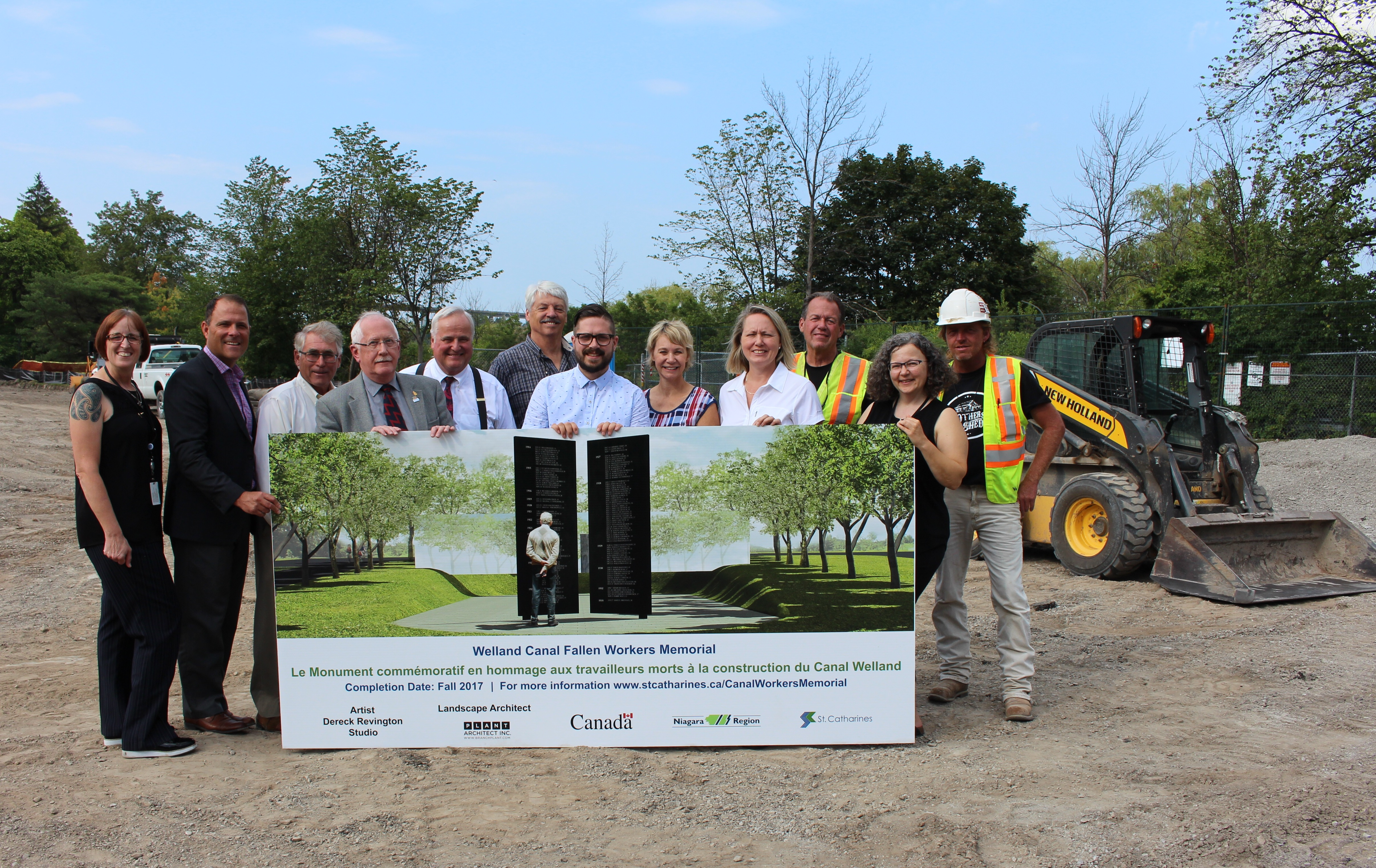 Work begins on Welland Canal Fallen Workers Memorial this Labour Day weekend