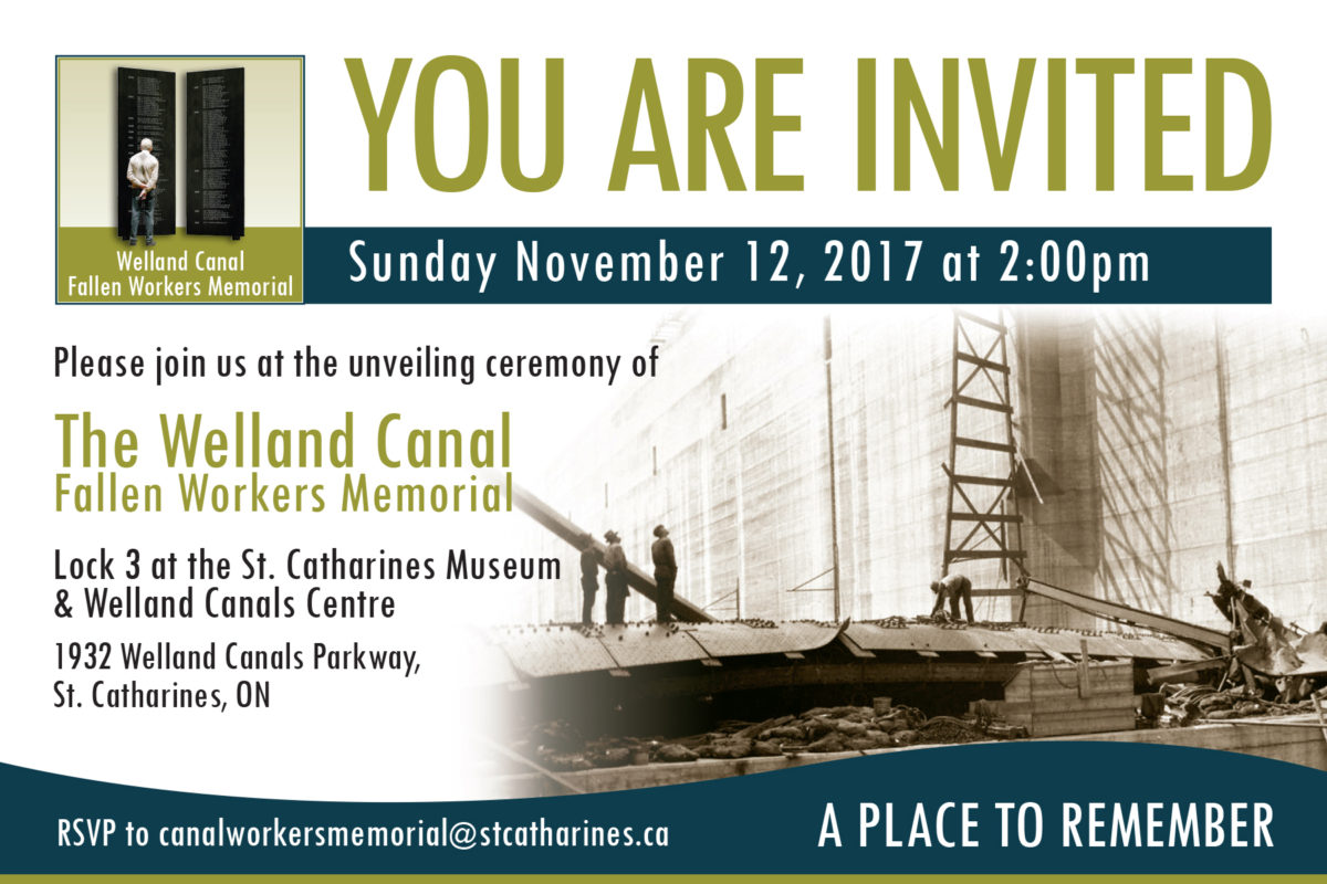 Welland Canal Fallen Workers Memorial to be unveiled on Sunday, Nov. 12