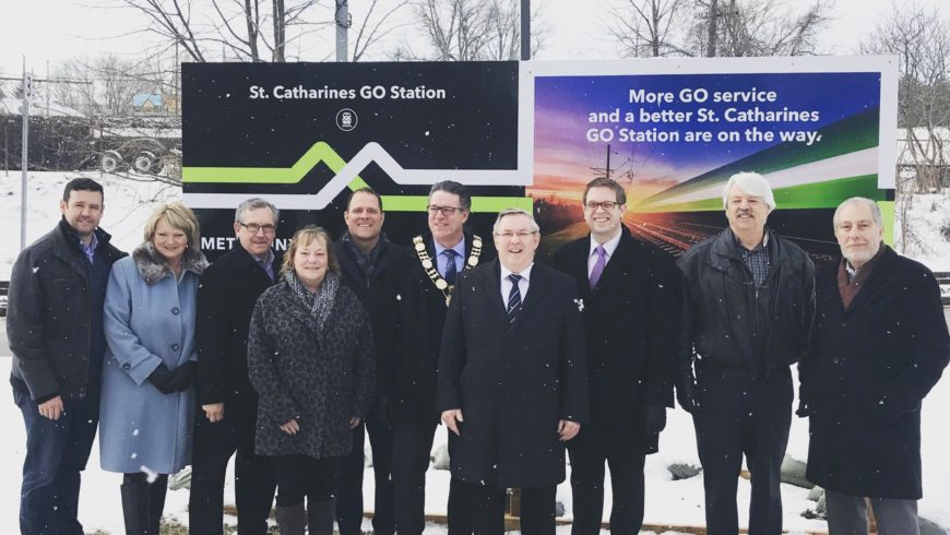 GO Train sign unveiled at St. Catharines GO Train/VIA Station