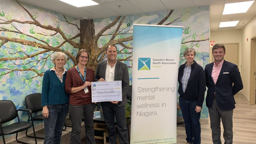 St. Catharines Mayor's Invitational Golf Tournament donates $25,000 to CMHA Niagara